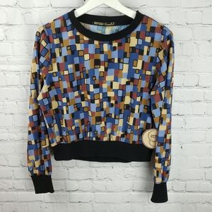 Gypsies & Moondust Geometric Longsleeve Top Blouse